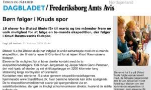Børn følger i Knuds spor, læs den her Frederiksborg Amts Avis 27. feb. 2009 af David Abildgaard