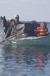 Far og datter i Vildmarken, 45 age i kano, online foredrag