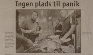Ingen Plads til panik, billede, Berlingske Tidende Søndag 30 maj 1999 af Kristine Wilkens. Om forskolen til Slædepatruljen Sirius