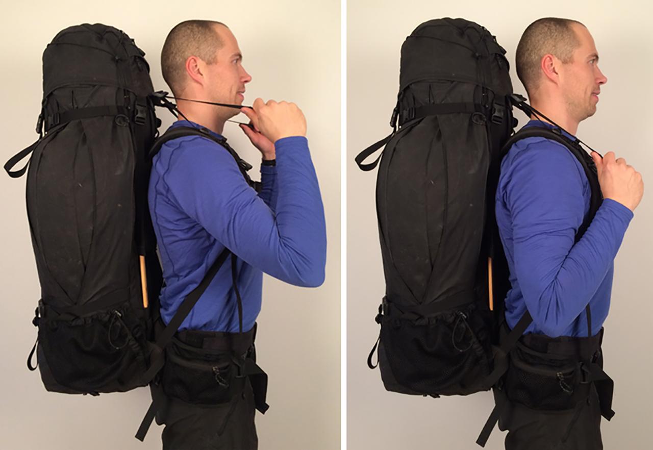 Justering af rygsæk, top skulderstropper af Erik B. Jørgensen
