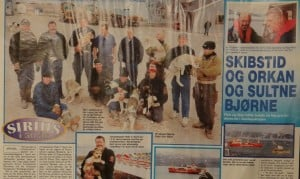 Skibstid og orkan og sultne bjørne, billede, Familie Journalen nr. 41 2000 af Jørgen Bjerre. Om tiden ved Slædepatruljen Sirius