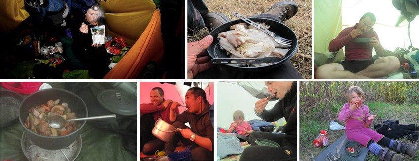 Spisegrej og kniv på vandre, kajak og kanotur