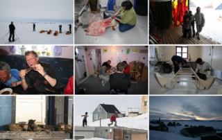 Collage af billede fra Isortoq Øst Grønland, Indlandsis krydsning 2008 slut!