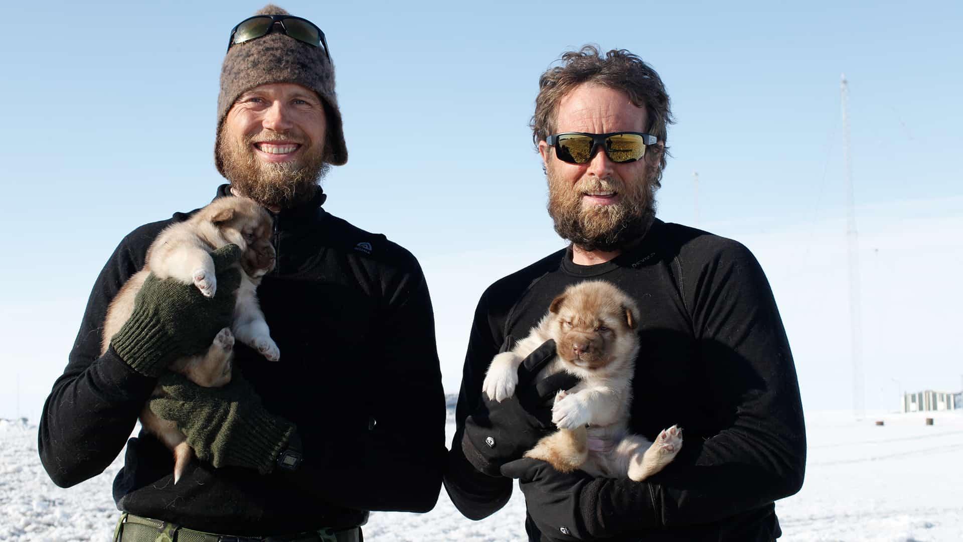 2 Thule til Thule ekspedition foredrag, slut Station Nord, Jesper og Erik med hvalpene