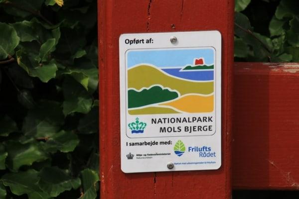 Billede af skilt, Nationalpark Mols Bjerg Fra Bikepacking, Danmark rundt