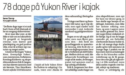 ------------------------------------------ 78 dage på Yukon River i kajak, med Erik B. Jørgensen, Rejser, fyens.dk, jv.dk og stiften.dk, 20. dec. 2020 af Søren Thorup