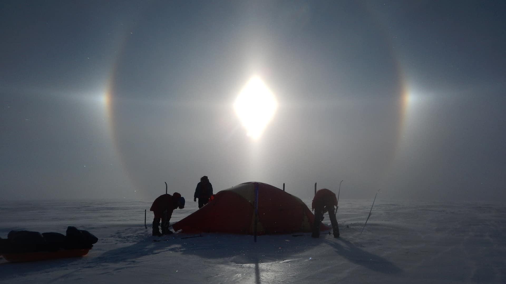 Indlandsisen, på ski i verdens mest øde område, foredrag, Erik B. Jørgensen, bisol over teltlejren