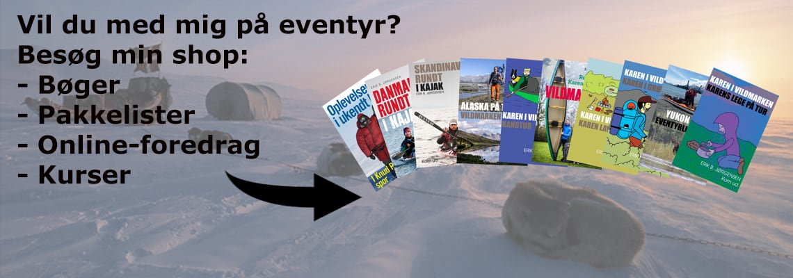 Alle bøger af Erik B. Jørgensen, 10 bøger om friluftsliv og ekspeditioner, både for voksne og børn.