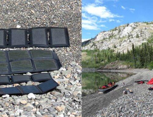 Anmeldelse, Powerbanks og solceller, på Yukon River