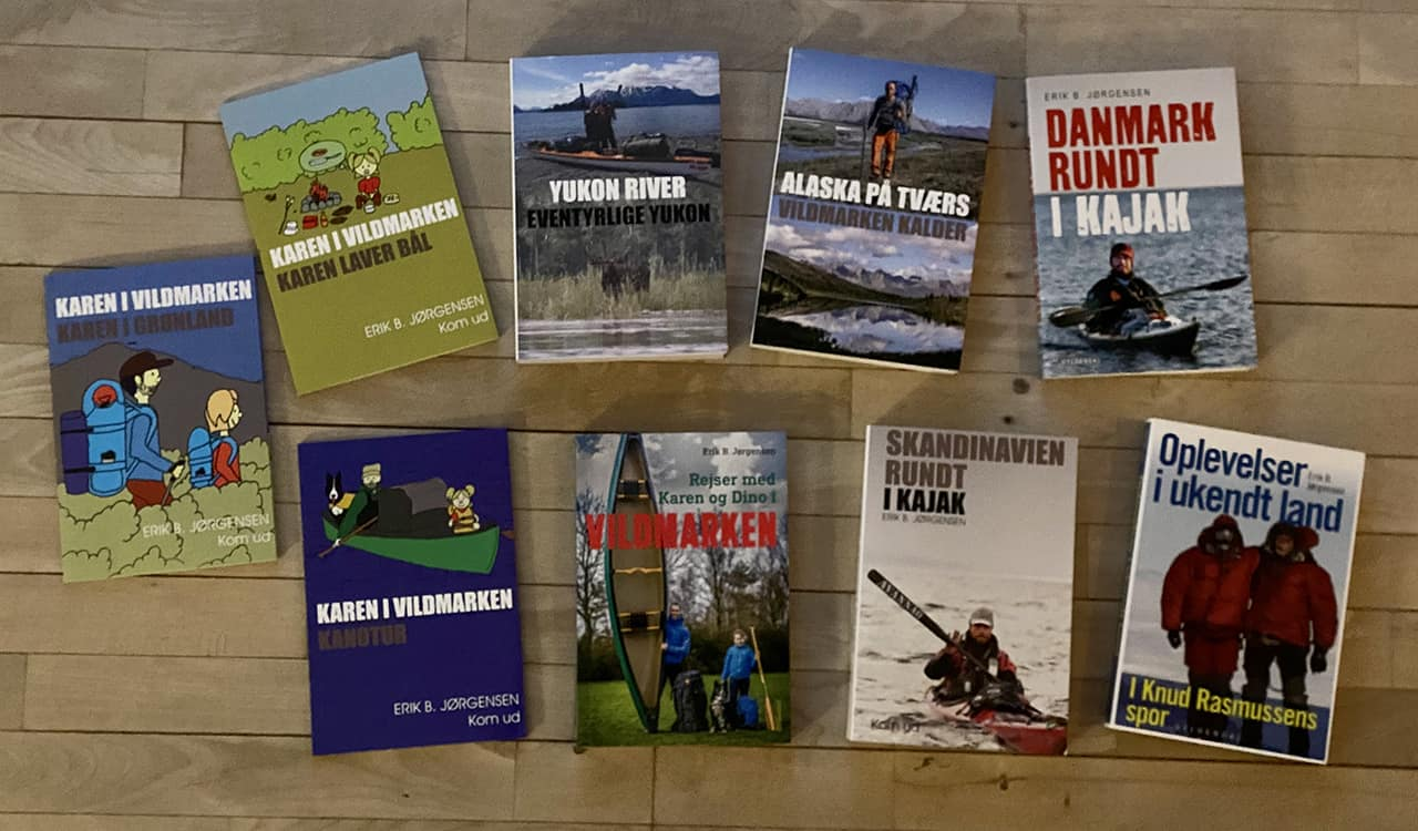 Bøger om friluftsliv/outdoor, natur, ture og ekspeditioner