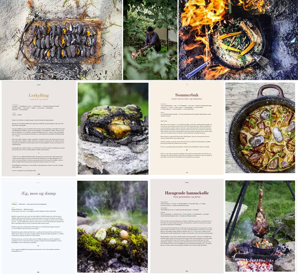 Eksempler fra ILD – Eventyrlig mad, se opskrifter og flotte billeder, lerkylling og sommerbuk.Forfatterne bag er Nikolaj Kirk, Mikkel Maarbjerg og Morten Kirckhoff.