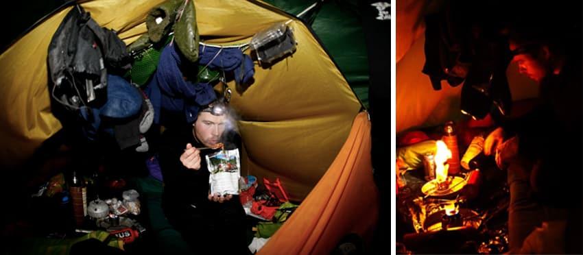 Brænder i telt