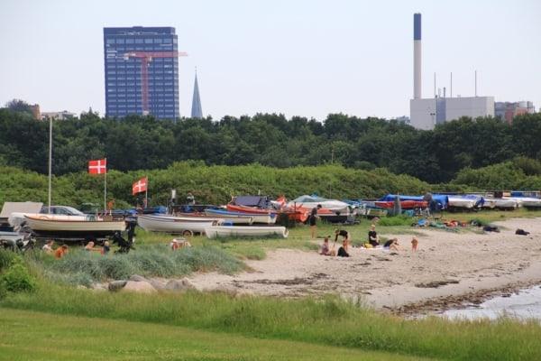 Billede af strand, Aarhus. Fra Bikepacking, Danmark rundt