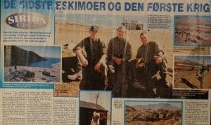 De sidste Eskimoer og den første krig, billede, Familie Journalen nr. 40 2000 af Jørgen Bjerre. Om tiden ved Slædepatruljen Sirius
