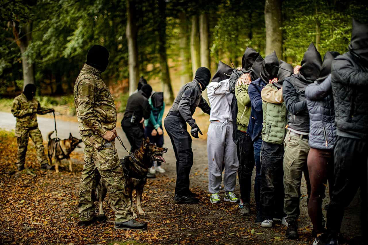 Episode 1, Korpset, sæson 4, Tilfagetagelse i starten, instruktør Erik B. Jørgensen, Foto Lars E. Andreasen, TV 2