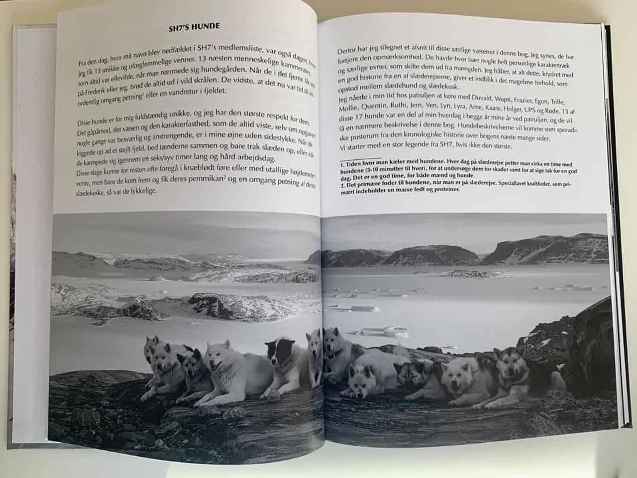Side eksempel fra ;Et Slædeliv af Simon Flening [Boganmeldelse], af Erik B. Jørgensen