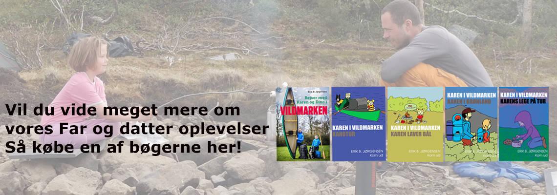 Bøger for børn og voksne og børn i naturen og friluftsliv, af Erik B. Jørgensen