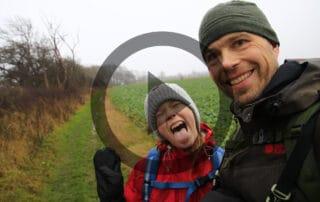 Far og datter vandretur, Stevns Klint, Trampestien [Mikroeventyr] film