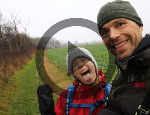 Trampestien,  Stevns Klint, Far og datter vandretur [Mikroeventyr] (film)