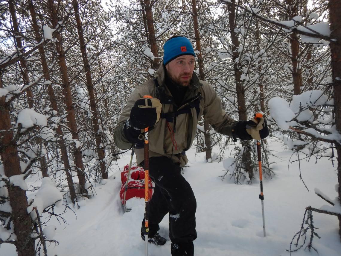 Alene i vinterfjeldet, ved Sälen, i Sverige (Gode råd og fif til vinterfjeldet)