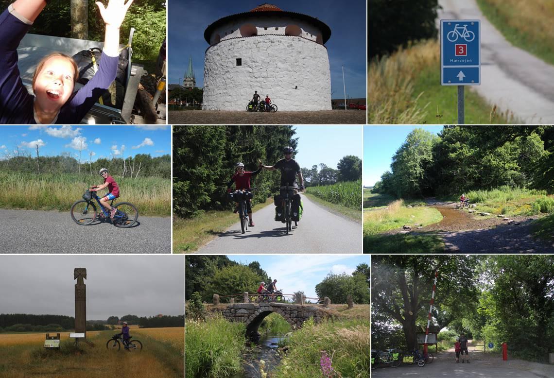 Hærvejen på cykel, fra Frederikshavn til grænsen, med barn