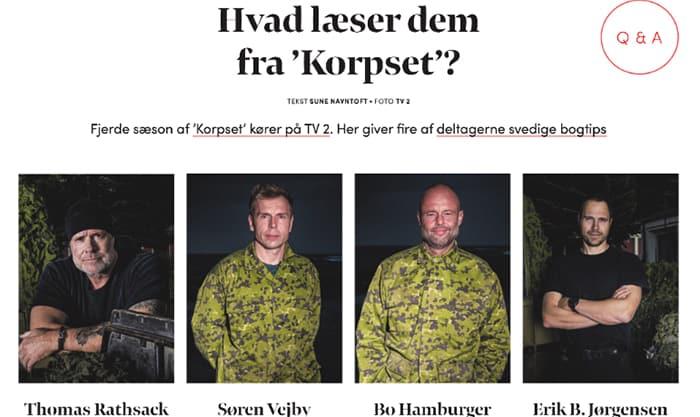 Hvad læser dem fra Korpset, Erik B. Jørgensen, Bogmagasinet 3, marts 2021 af Sune Navntoft, lille