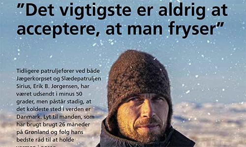Interview om at holde varmen i soveposen, Soldaten, feb. 2021 af Leonora Frydensberg Sepstrup