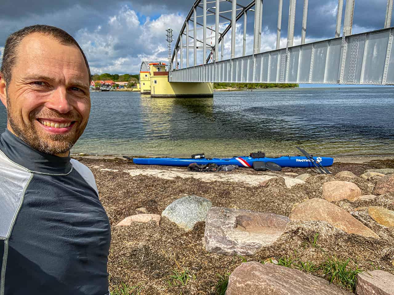 Erik B. Jørgensen på Kajaktur i Smålandsfarvandet (Fejø og Femø) [Mikroeventyr]