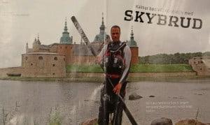 Kalmar bød velkommen med Skybrud, billede, Kano og kajak Magasinet, nr. 4 aug. 2011 af Lars Bo