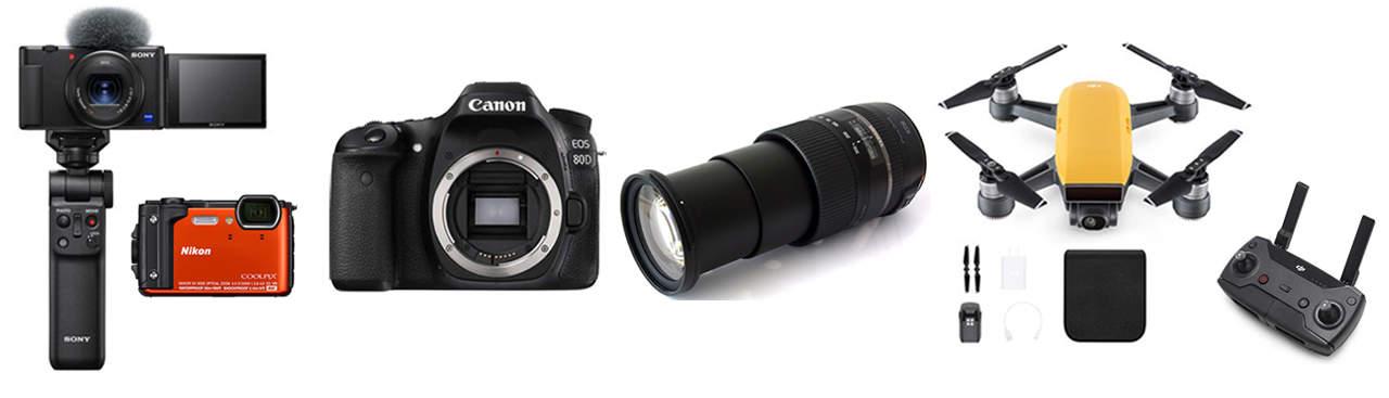 Kameraer på mine ture/ekspeditioner 2021