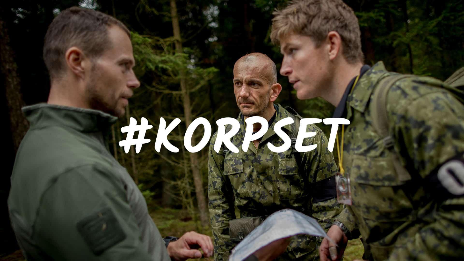 Korpset, TV program på TV2, om specialstyrker, og de krav til psyke og fysik det kræver. Med Erik B. Jørgensen