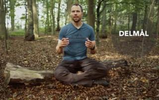 Erik B. Jørgensen sidder i skoven og fortæller om Lav delmål for at må dine mål! [Motivation], af Erik B. Jørgensen
