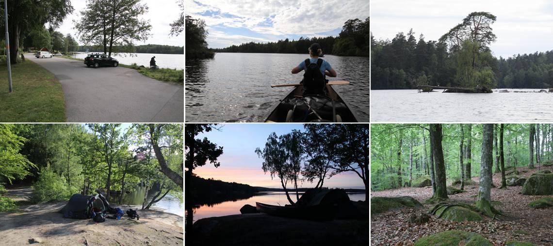 Let kanotur i det sydlige Sverige, Halen og Immeln