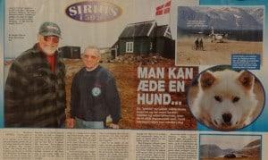 Man kan æde en hund, billede, Familie Journalen nr. 42 2000 af Jørgen Bjerre. Om tiden ved Slædepatruljen Sirius