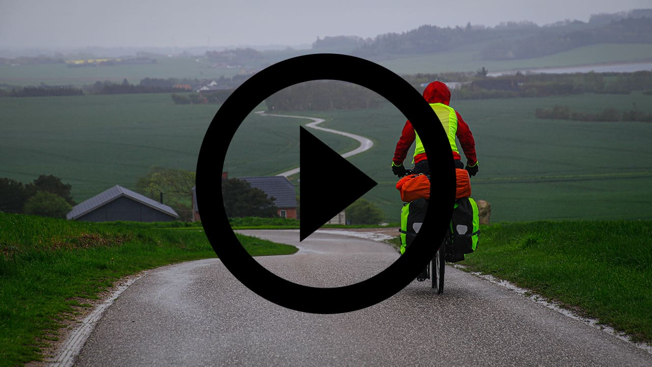 Tine Henriksen og Erik B. Jørgensen på Mors rundt på cykel [Mikroeventyr]