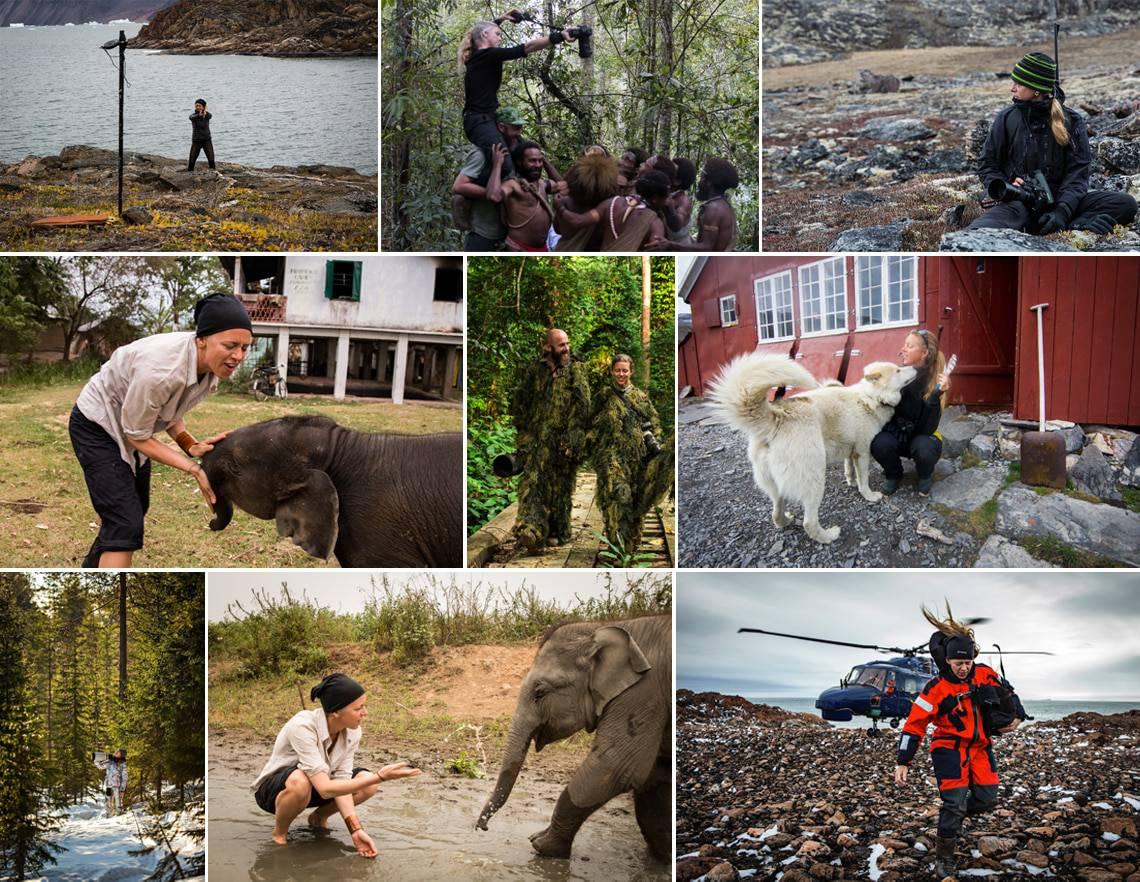 [Podcasts] Mød eventyreren Helle (Olsen) Løvevild Golman. Billeder af Helle rundt i verden på fotoopgaver.