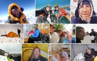 Collage af billede fra Jakob Urth ture og bjergbestigningsekspeditioner til [Podcasts] Mød eventyreren Jakob Urth, vært Erik B. Jørgensen