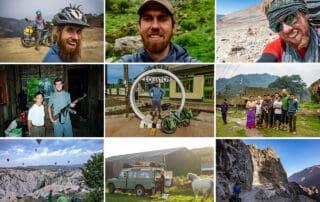 Billede collage af Martin Lohmann Møller på tur, til: [Podcasts] Mød eventyreren Martin Lohmann Møller