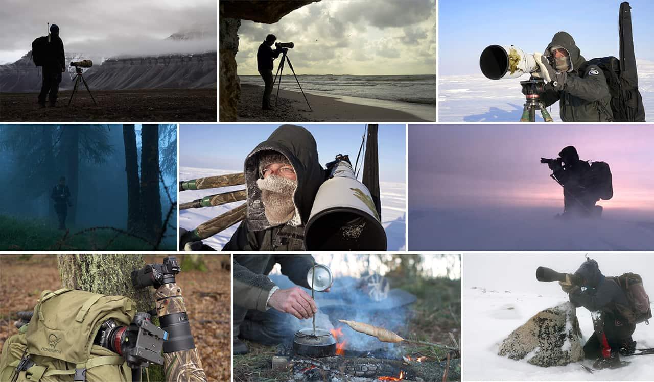 [Podcasts] Mød eventyreren Morten Hilmer. Billede collage af Morten i aktion