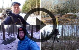 Erik B. Jørgensen på vandretur: Rold Skov/Rebild bakker, vandretur 10. til 11. feb. [Mikroeventyr] film