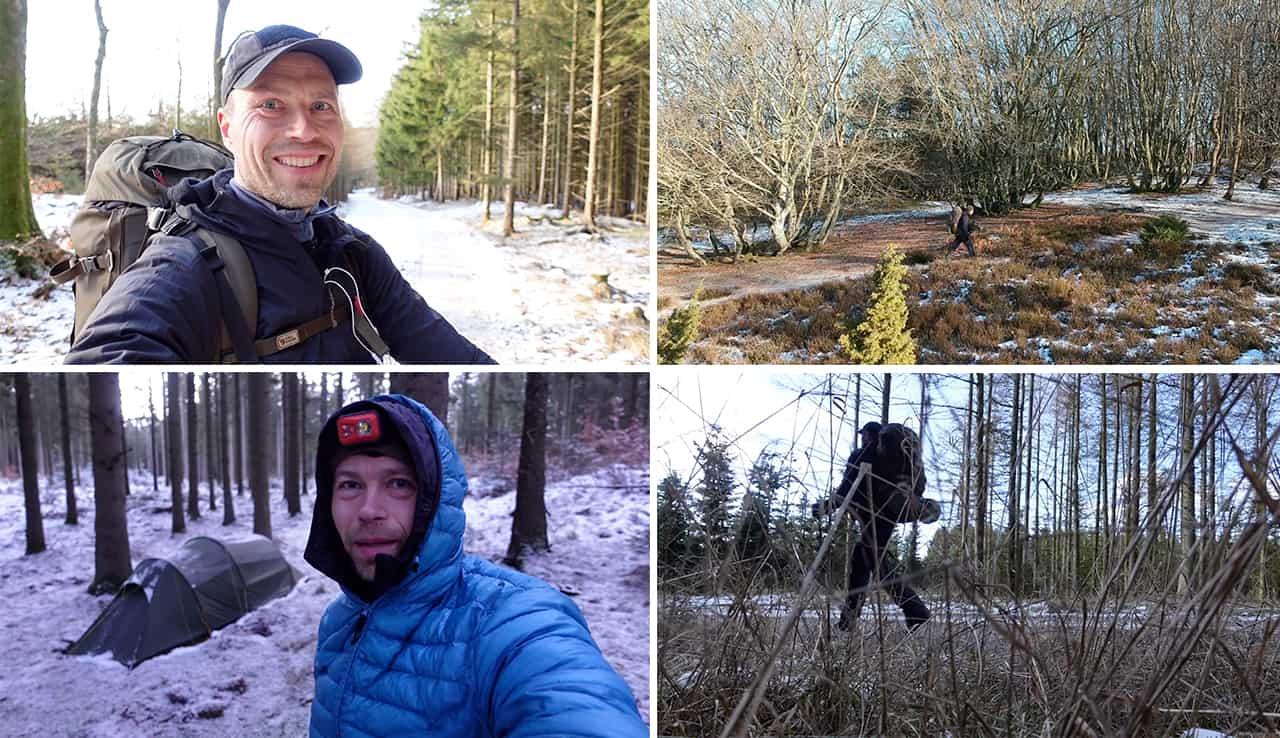 Erik B. Jørgensen på vandretur: Rold Skov/Rebild bakker, vandretur 10. til 11. feb. [Mikroeventyr]