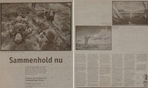 Sammenhold nu, billede, Berlingske Tidende, Søndag 4 april 1999 af Kristine Wilkens. Om forskolen til Slædepatruljen Sirius