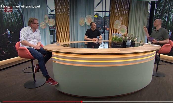Snak om naturen og mulighed for aktiviteter, Erik B. Jørgensen, Sebastian Klein og Mark Stokholm, Aftenshowet, 15. feb. 2021, vært Mark Stokholm, lille