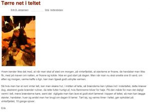 """Tidligere udgave af """"Tørre net i teltet"""" fra 28 maj 2008"""
