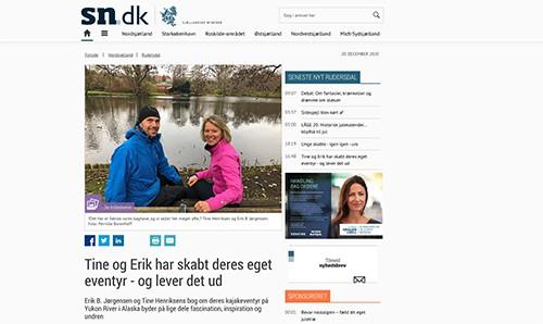 Tine og Erik har skabt deres eget eventyr - og lever det ud, med Erik B. Jørgensen, Det Grønne område og SN.dk, 19. dec. 2020, af Pernille Borenhoff