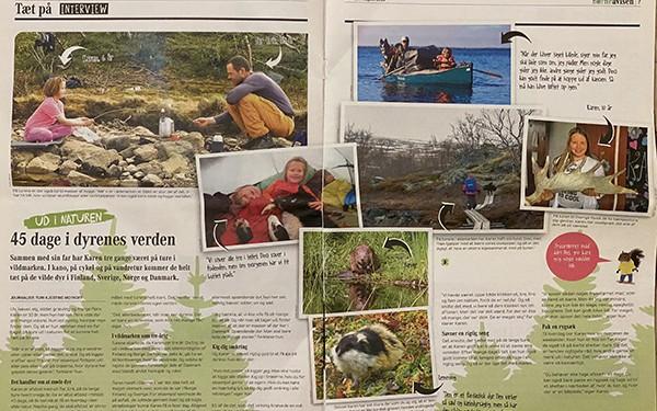 Billede af artiklen som lille: Ud i Naturen, 45 dage i dyrenes verden, Børneavisen, nr. 45. 27 aug. 2019, Politikens Hus, af Turi Kjestine Meyhoff