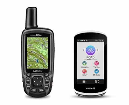 Billeder af to GPSer med og uden knapper til Valg af GPS, GPS med Touch skærm eller knapper