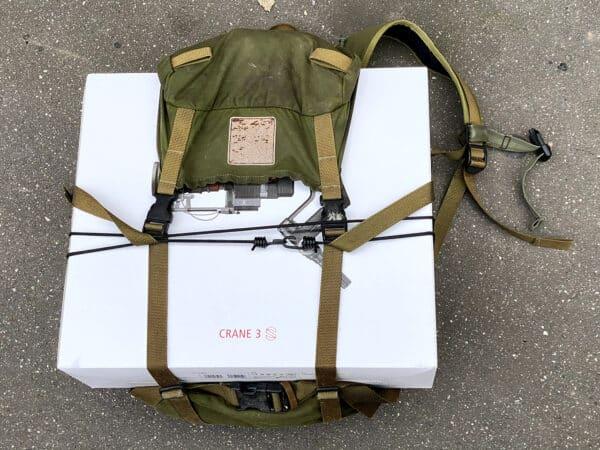 Billede af Norrøna Stridssekk 35 l rygsæk, med stor kasse monteret