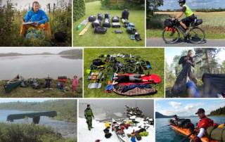 Billeder af vandtætteposer fra ture og ekspeditioner med Erik B. Jørgensen, til indlægget Valg af vandtætteposer, til friluftsliv
