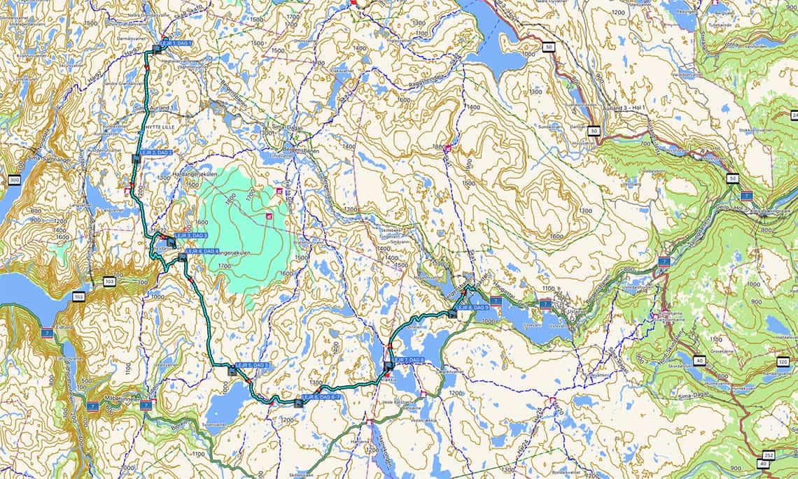 Vandretur Pa Hardangervidda Norge Med Barn